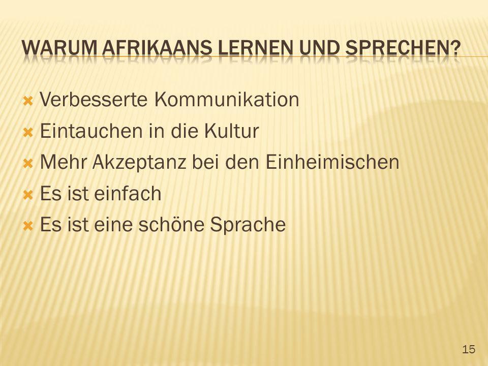 Warum afrikaans lernen und sprechen