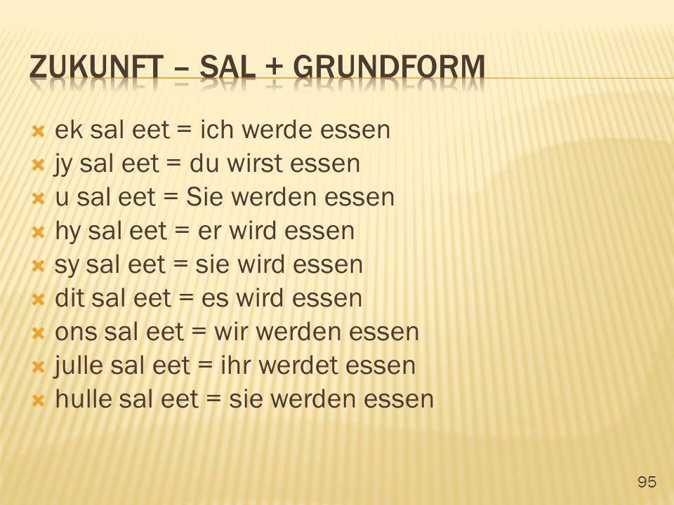 zukunft – sal + grundform