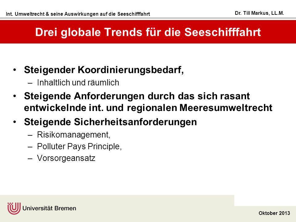 Drei globale Trends für die Seeschifffahrt