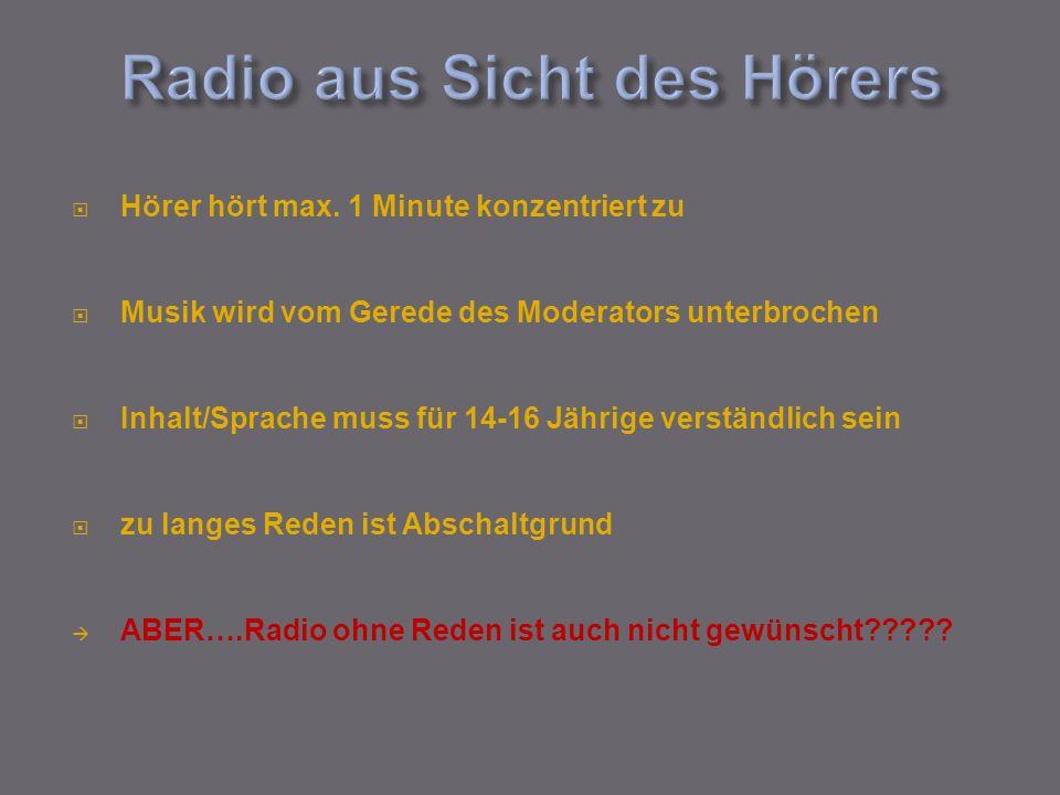 Radio aus Sicht des Hörers