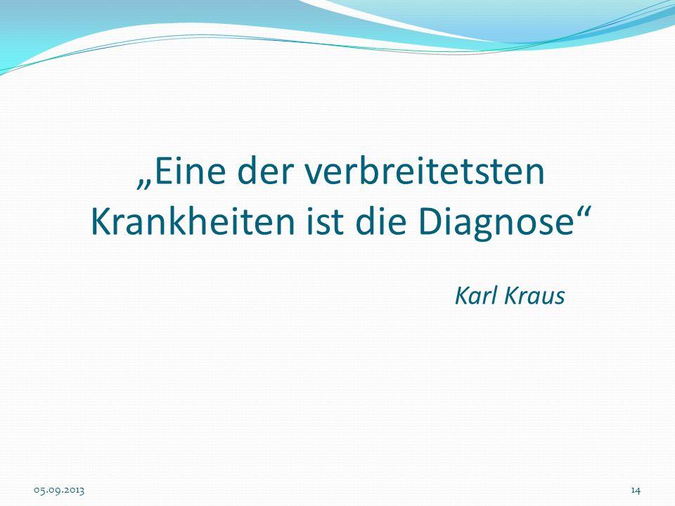 """""""Eine der verbreitetsten Krankheiten ist die Diagnose Karl Kraus"""