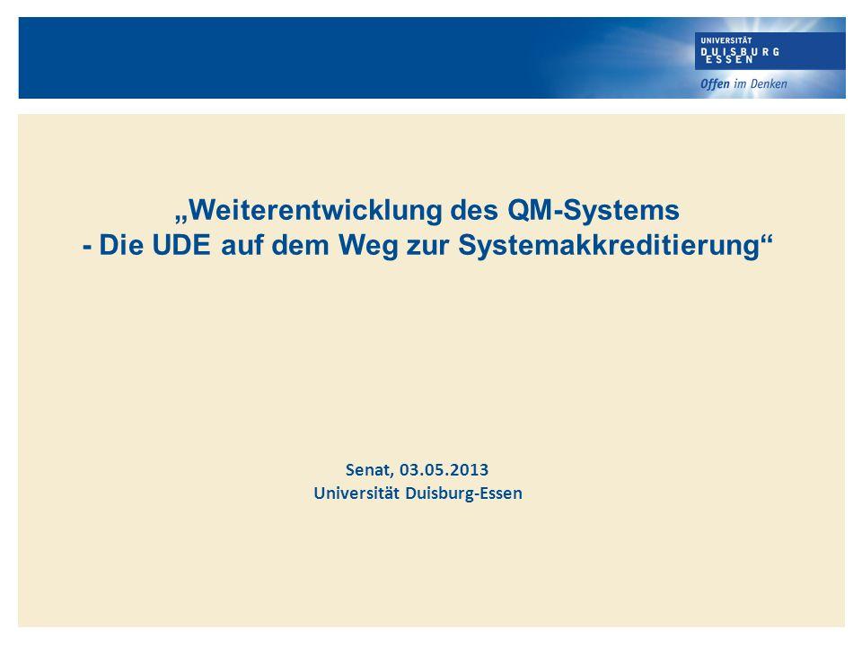 """""""Weiterentwicklung des QM-Systems"""