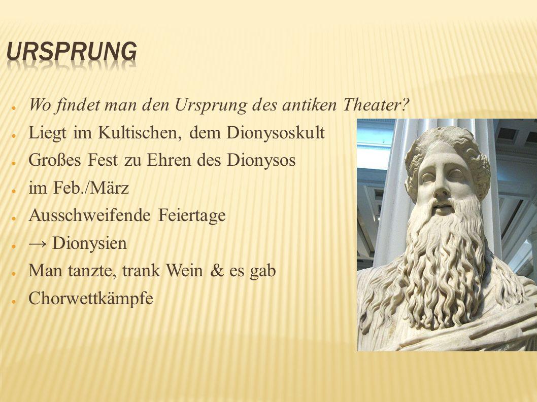 Ursprung Wo findet man den Ursprung des antiken Theater