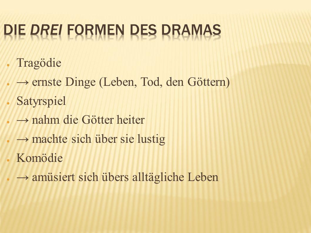 Die drei Formen des Dramas
