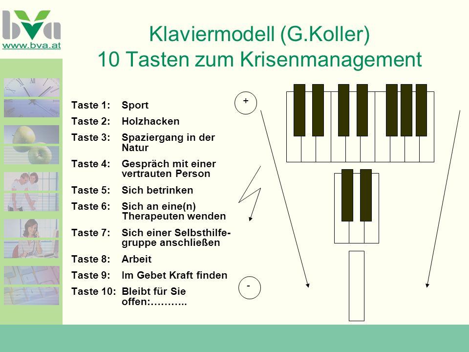 Klaviermodell (G.Koller) 10 Tasten zum Krisenmanagement