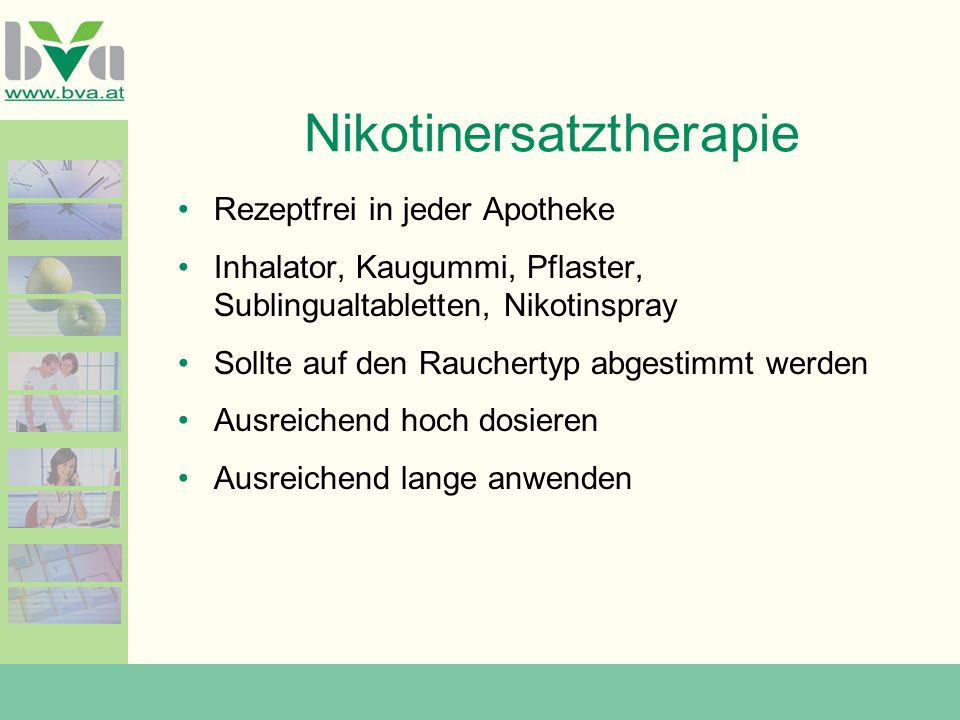 Nikotinersatztherapie