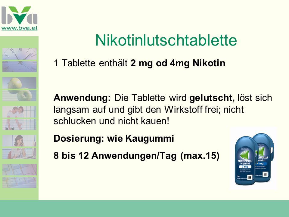 Nikotinlutschtablette