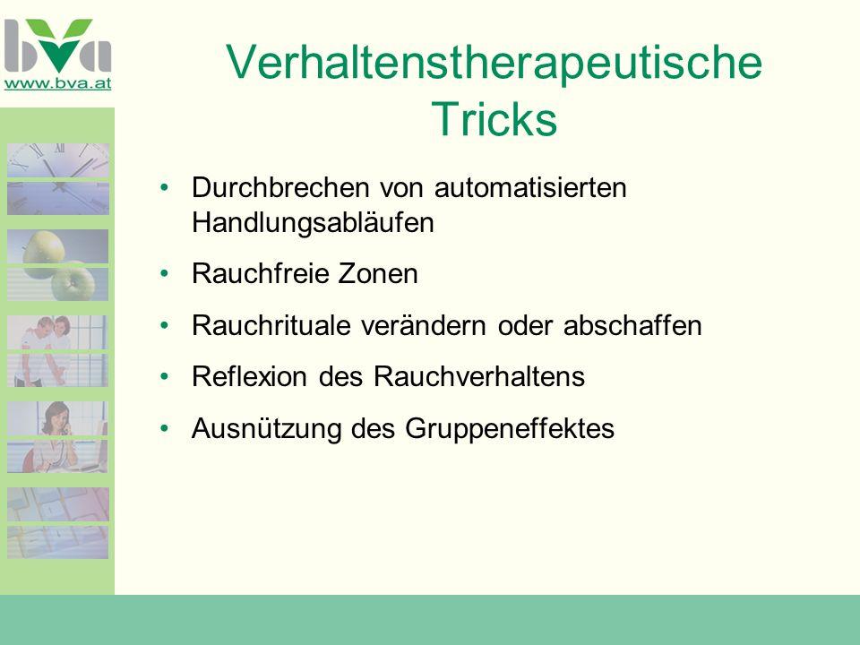 Verhaltenstherapeutische Tricks