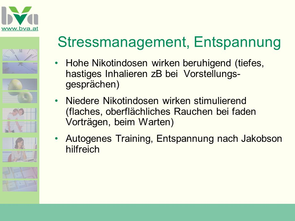 Stressmanagement, Entspannung