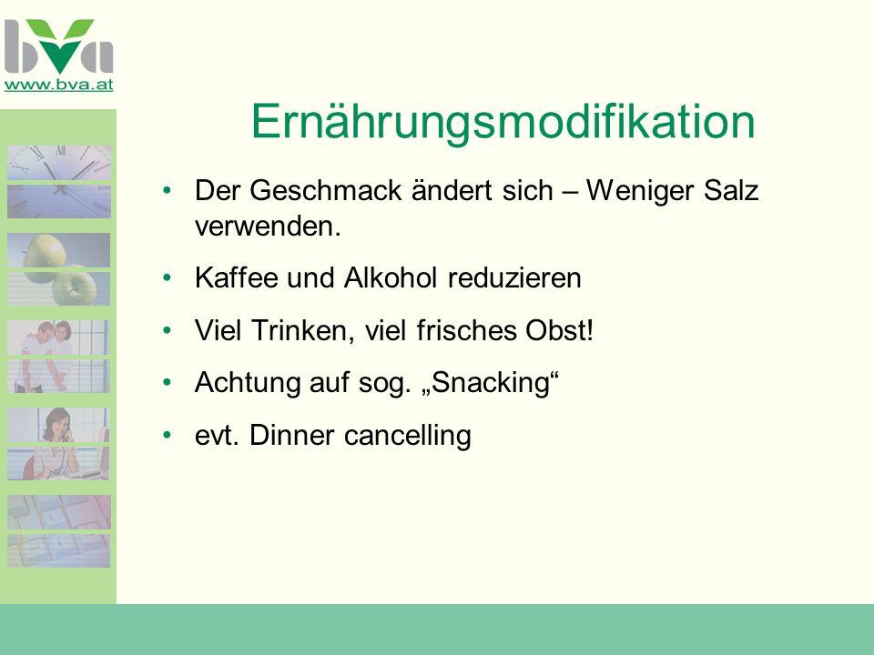 Ernährungsmodifikation