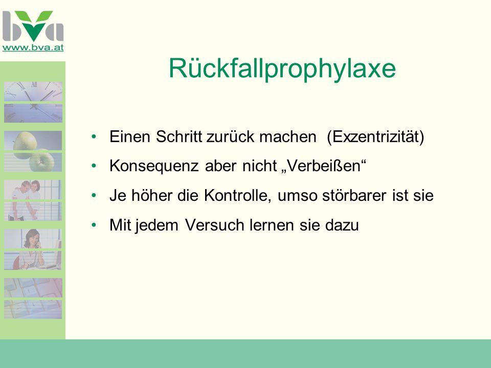 Rückfallprophylaxe Einen Schritt zurück machen (Exzentrizität)