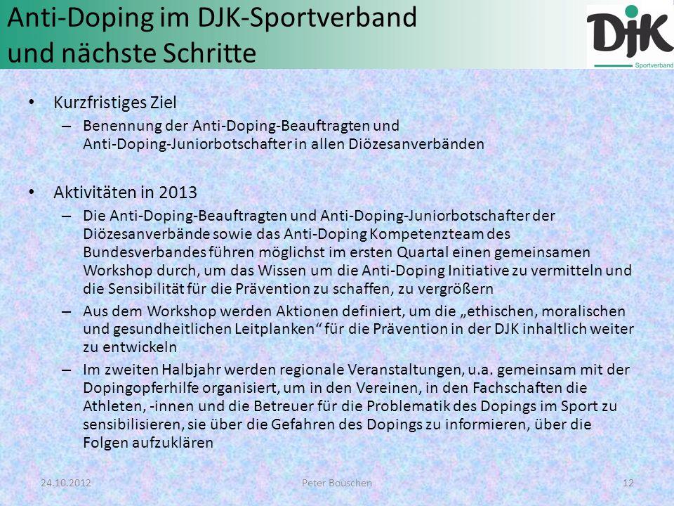 Anti-Doping im DJK-Sportverband und nächste Schritte