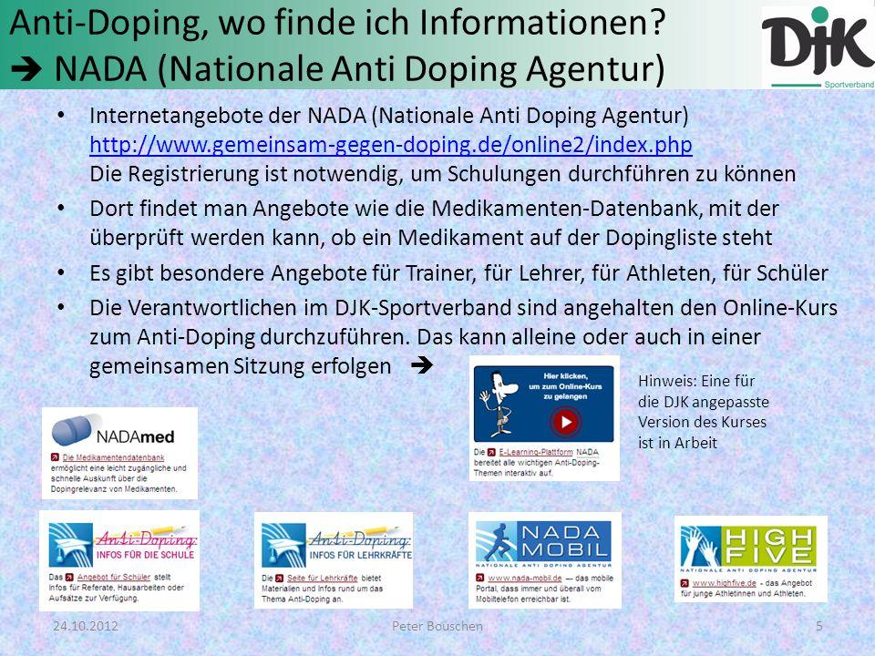 Anti-Doping, wo finde ich Informationen