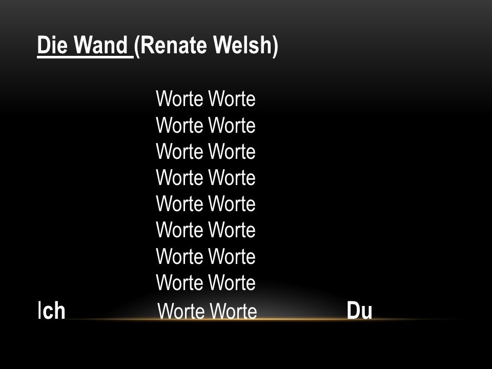Die Wand (Renate Welsh)