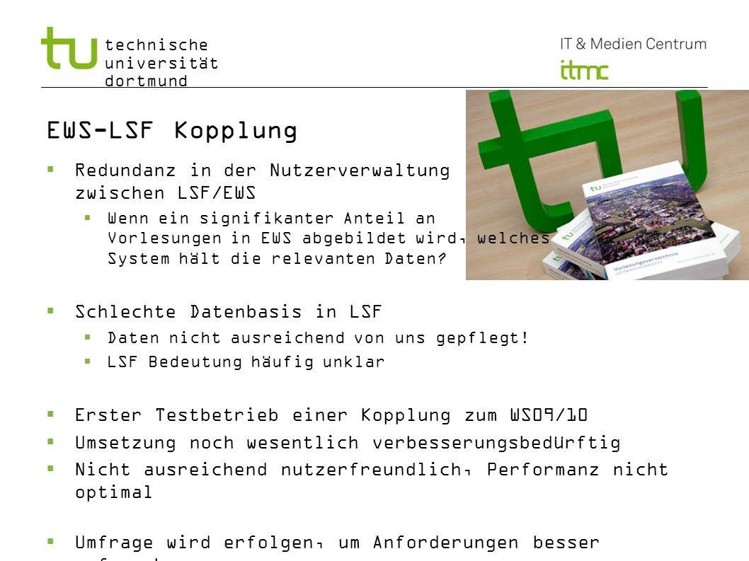 EWS-LSF Kopplung Redundanz in der Nutzerverwaltung zwischen LSF/EWS