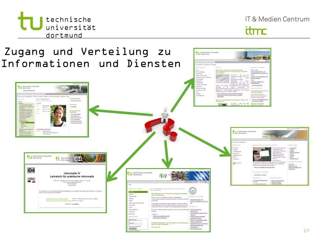 Zugang und Verteilung zu Informationen und Diensten
