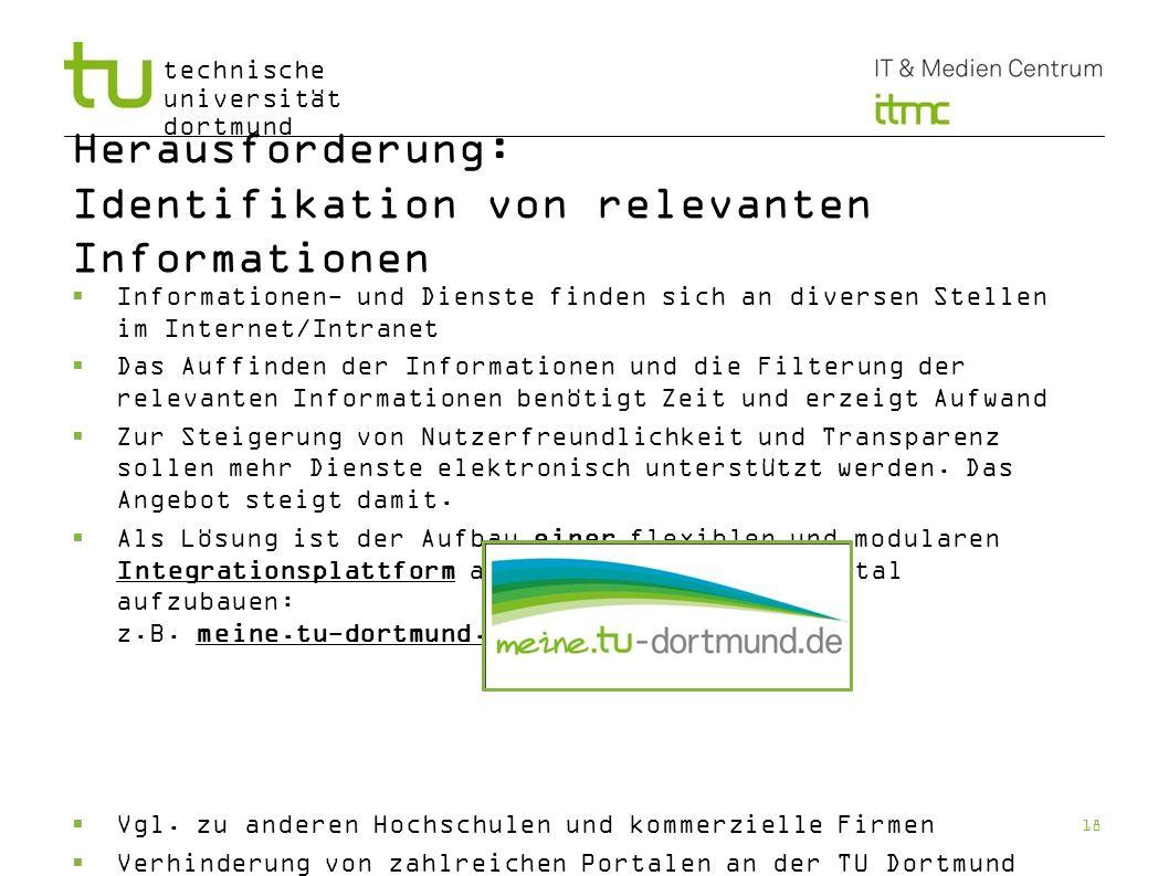 Herausforderung: Identifikation von relevanten Informationen