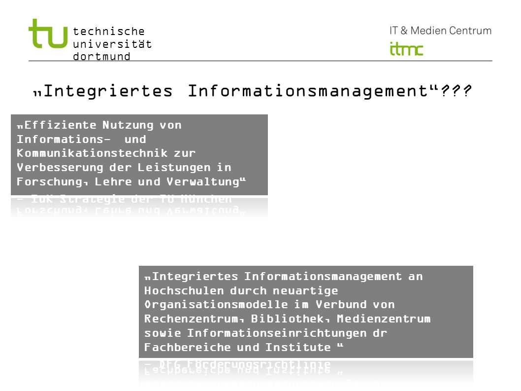 """Integriertes Informationsmanagement"