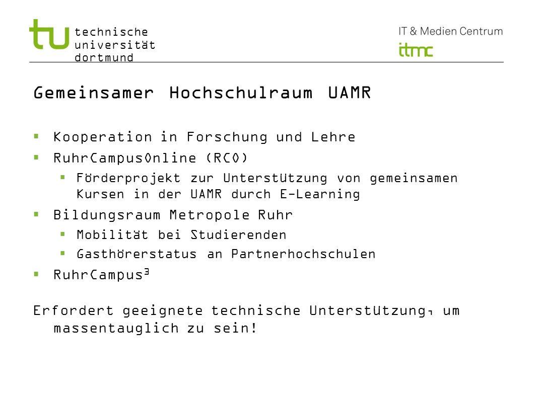 Gemeinsamer Hochschulraum UAMR