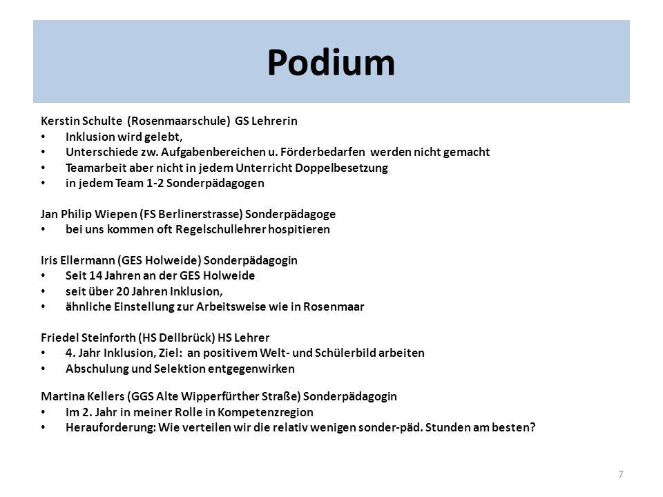 Podium Kerstin Schulte (Rosenmaarschule) GS Lehrerin