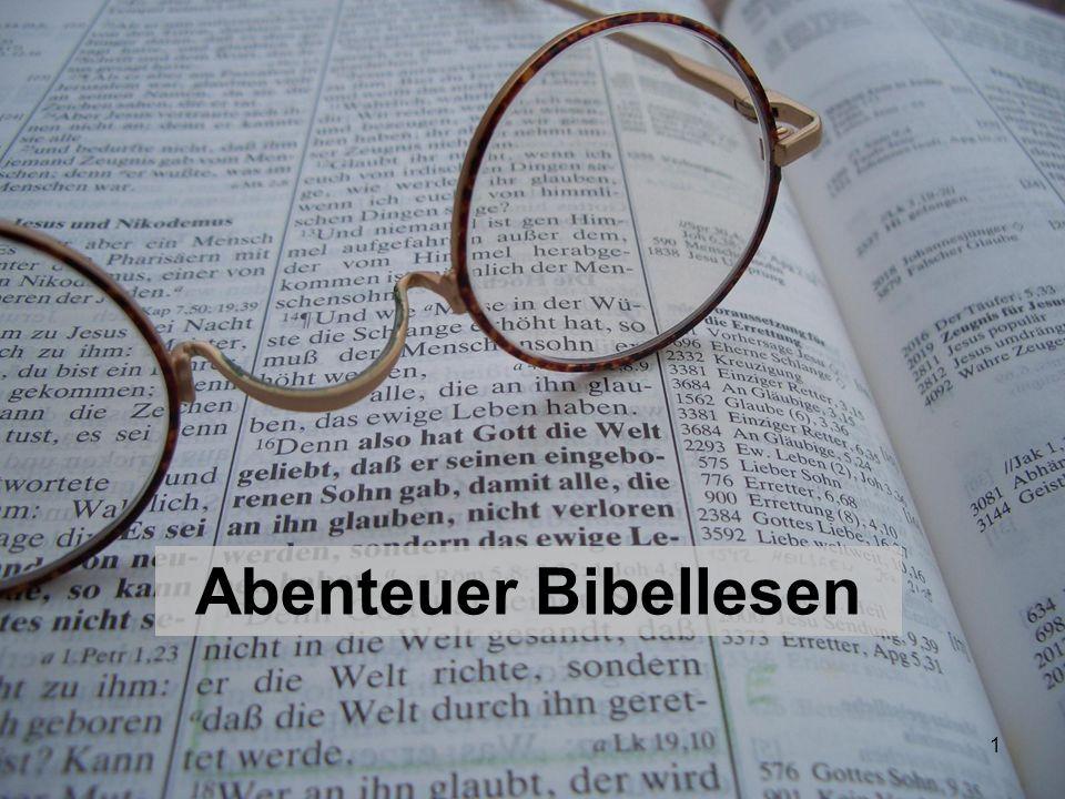 Abenteuer Bibellesen