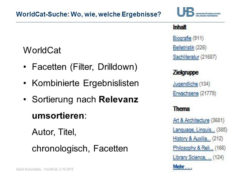 WorldCat-Suche: Wo, wie, welche Ergebnisse