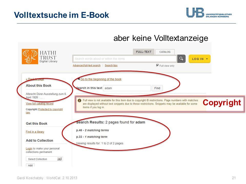 Volltextsuche im E-Book