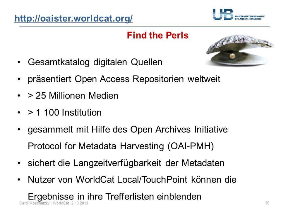 http://oaister.worldcat.org/ Find the Perls