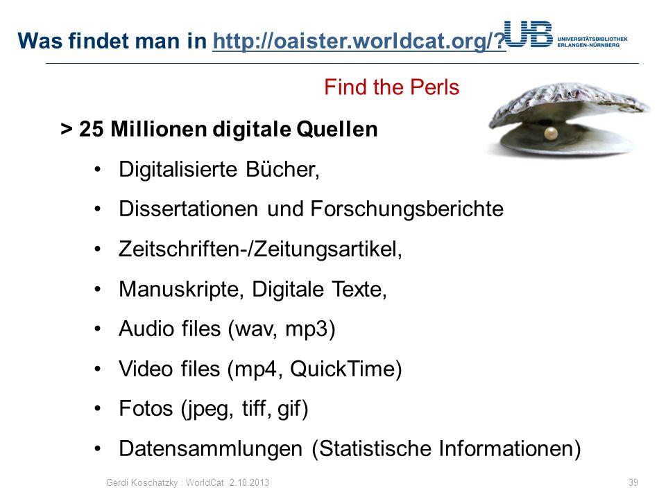 Was findet man in http://oaister.worldcat.org/