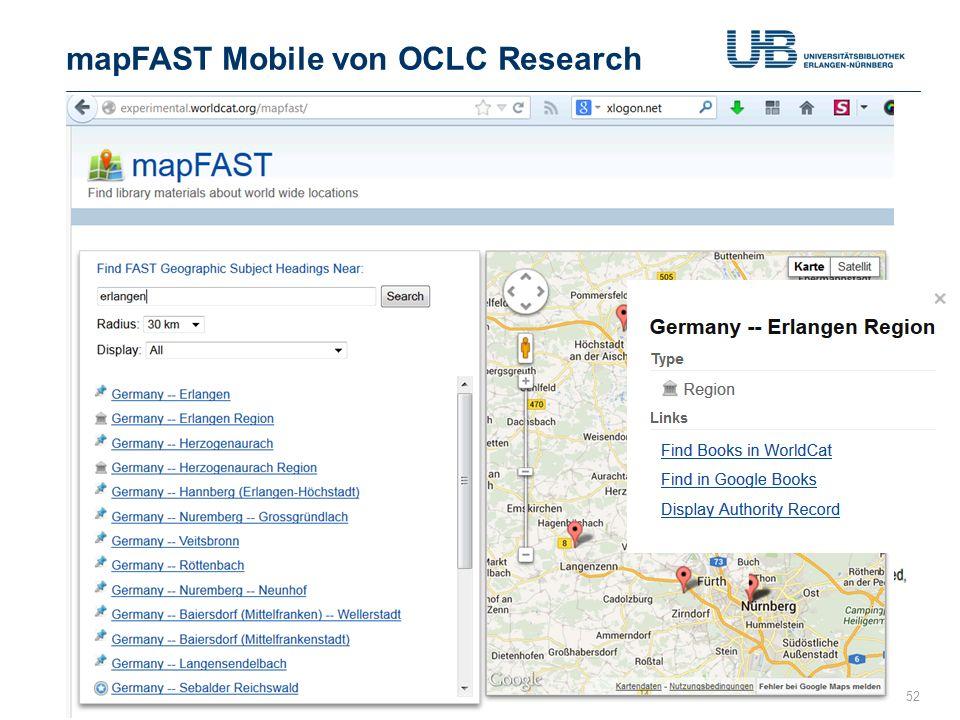 mapFAST Mobile von OCLC Research