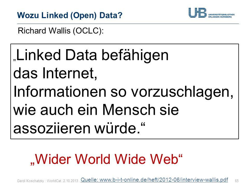 Wozu Linked (Open) Data