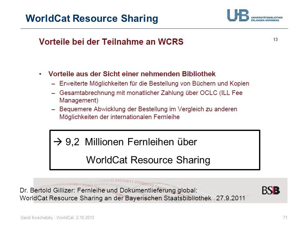 WorldCat Resource Sharing