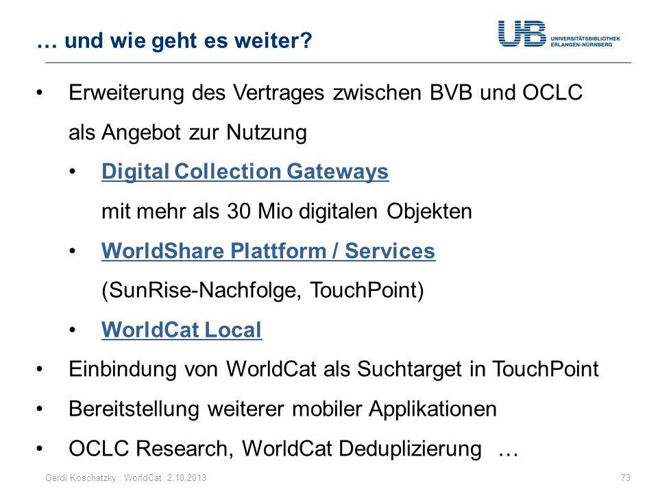 Digital Collection Gateways mit mehr als 30 Mio digitalen Objekten