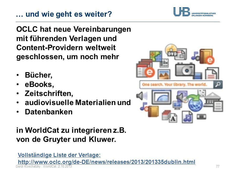 audiovisuelle Materialien und Datenbanken