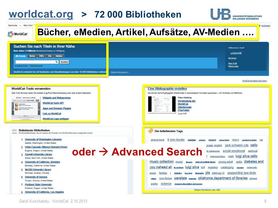 worldcat.org > 72 000 Bibliotheken
