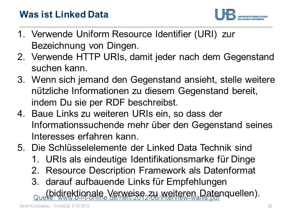 Verwende Uniform Resource Identifier (URI) zur Bezeichnung von Dingen.