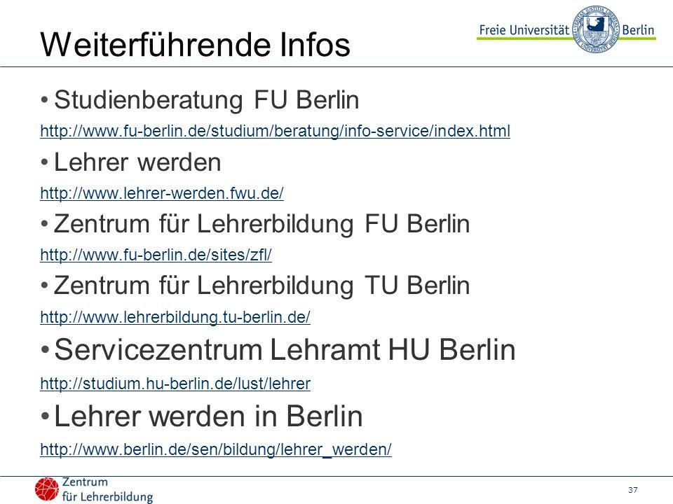 Weiterführende Infos Servicezentrum Lehramt HU Berlin