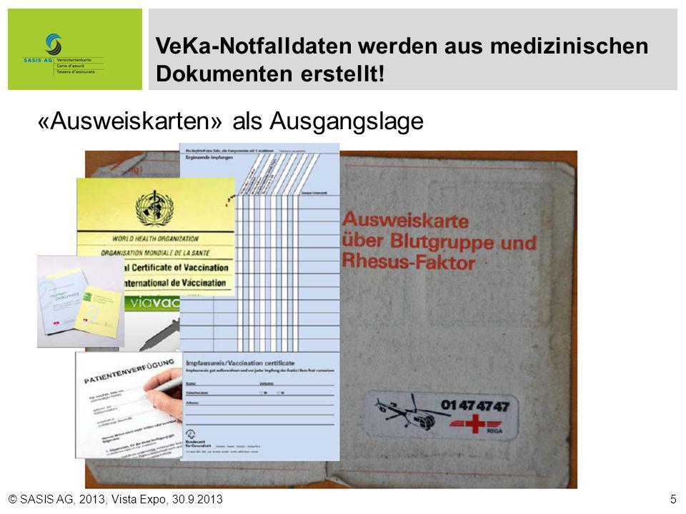 VeKa-Notfalldaten werden aus medizinischen Dokumenten erstellt!