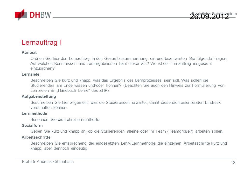26.09.2012 Lernauftrag I.