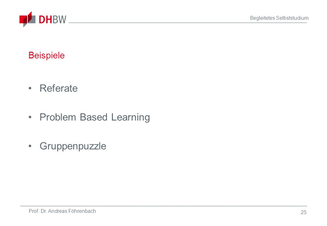 Problem Based Learning Gruppenpuzzle
