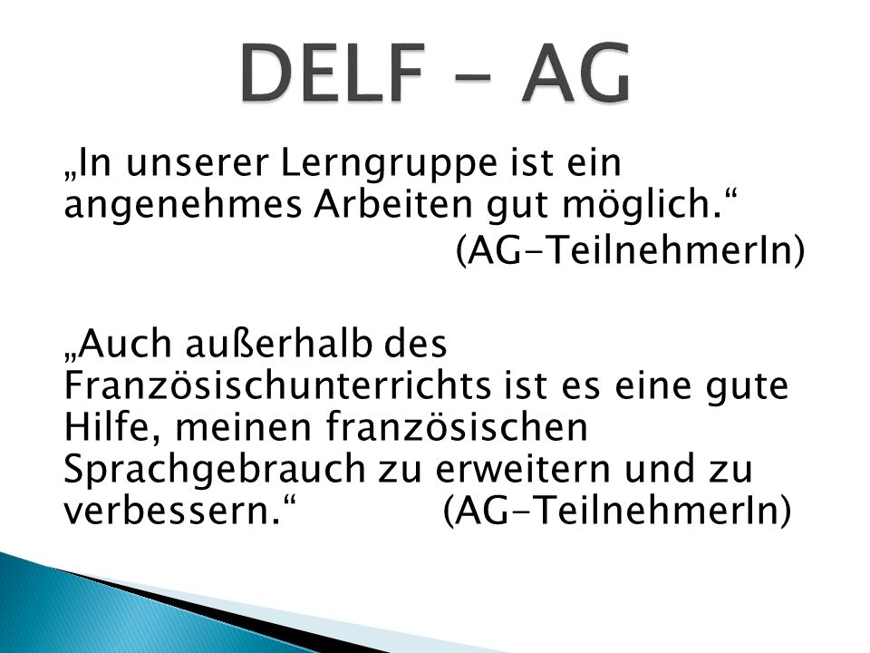 DELF - AG