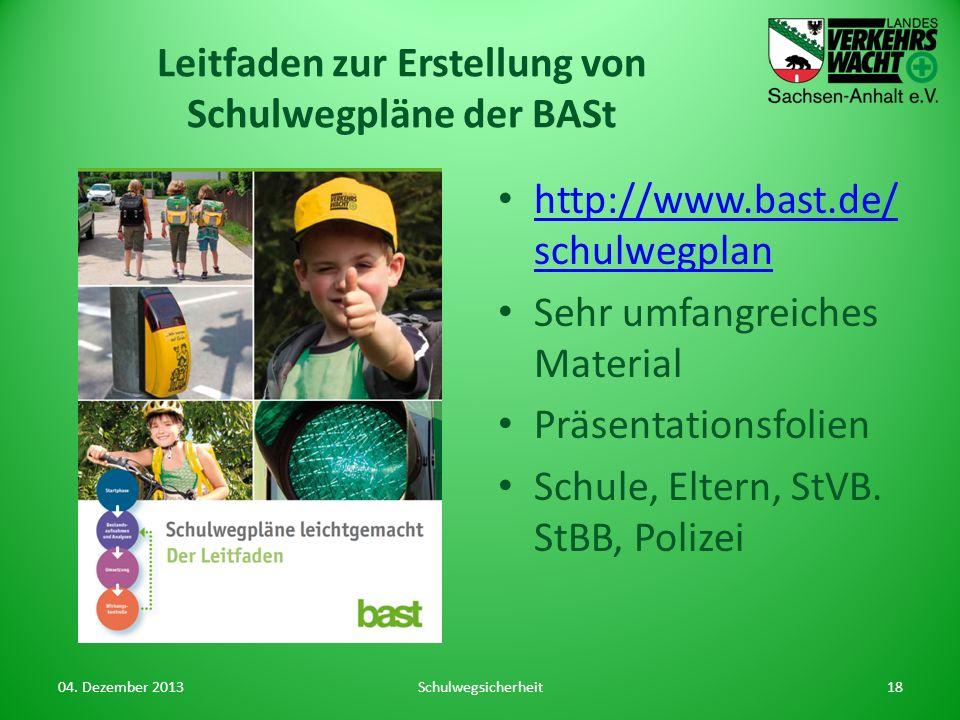 Leitfaden zur Erstellung von Schulwegpläne der BASt