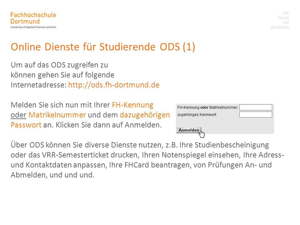 Online Dienste für Studierende ODS (1)