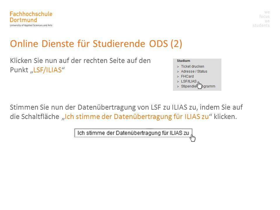 Online Dienste für Studierende ODS (2)