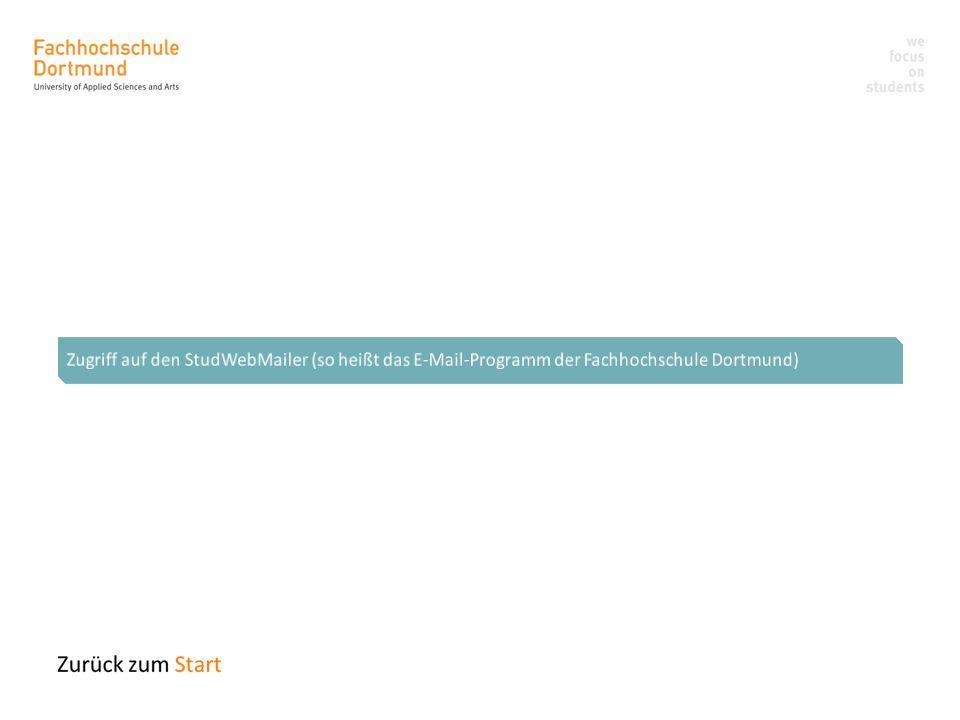 Zugriff auf den StudWebMailer (so heißt das E-Mail-Programm der Fachhochschule Dortmund)