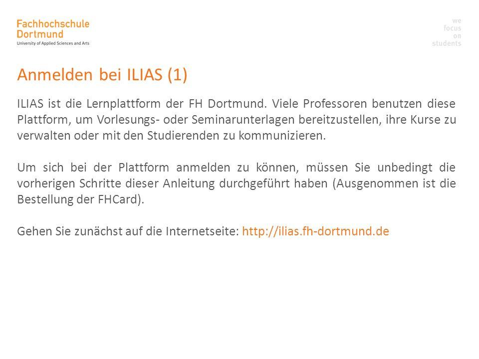 Anmelden bei ILIAS (1)