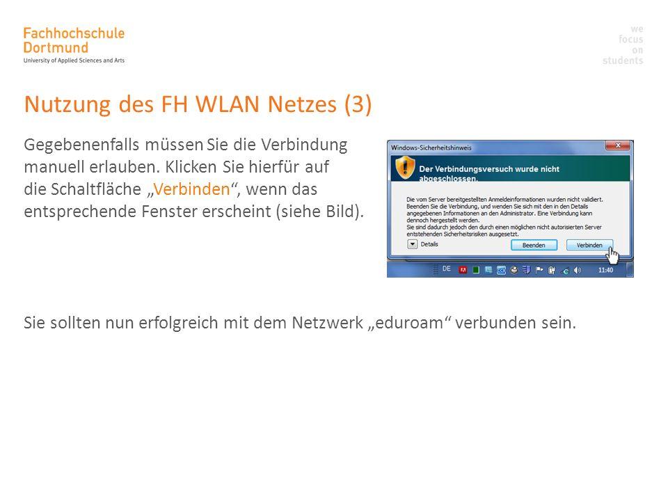 Nutzung des FH WLAN Netzes (3)
