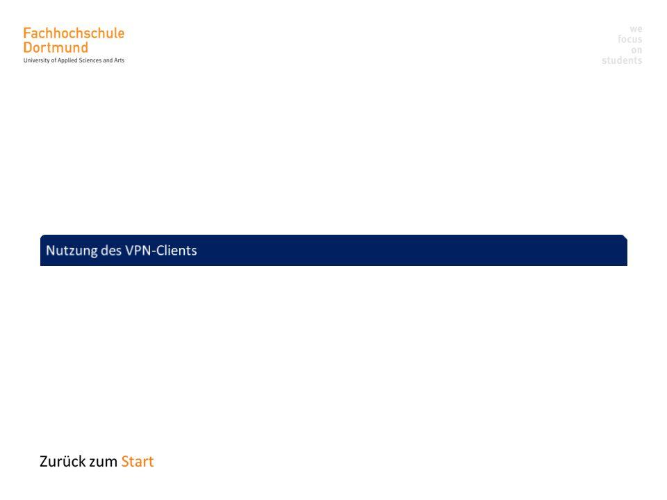 Nutzung des VPN-Clients