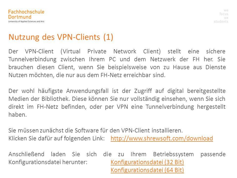 Nutzung des VPN-Clients (1)