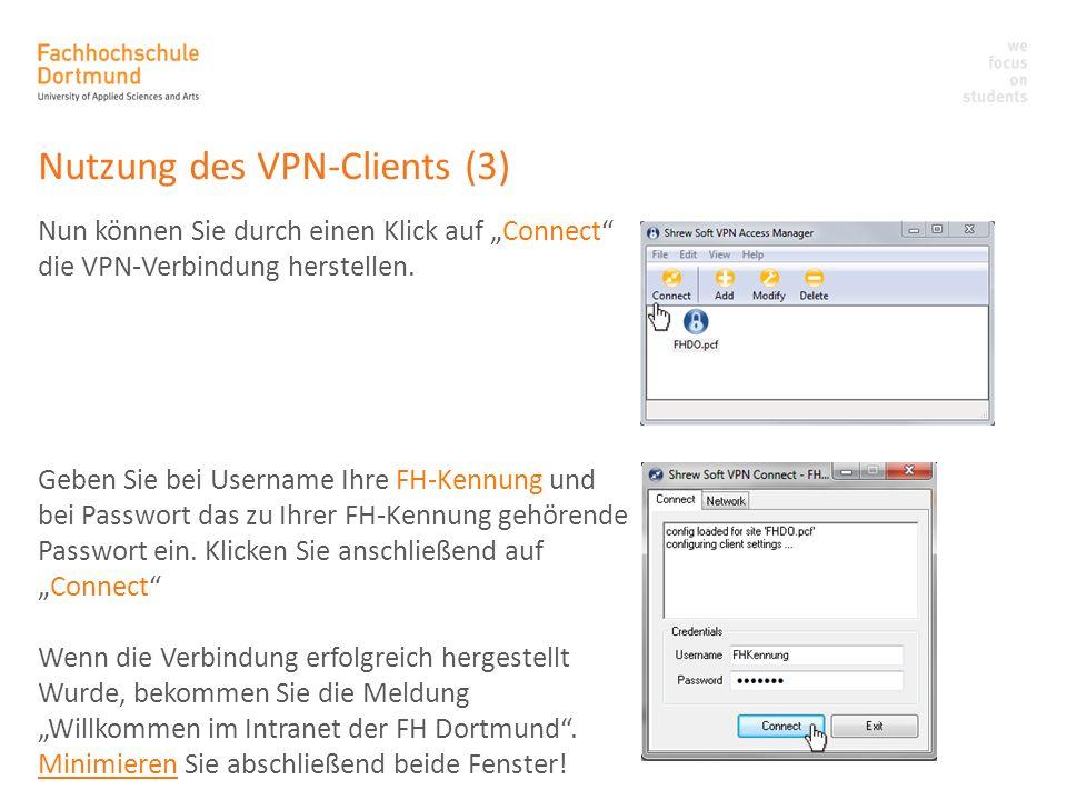 Nutzung des VPN-Clients (3)